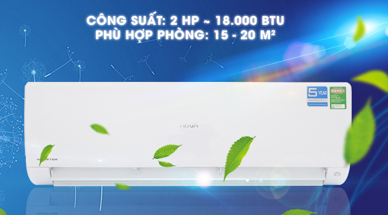 Máy lạnh Aqua Inverter 2 HP AQA-KCRV18F
