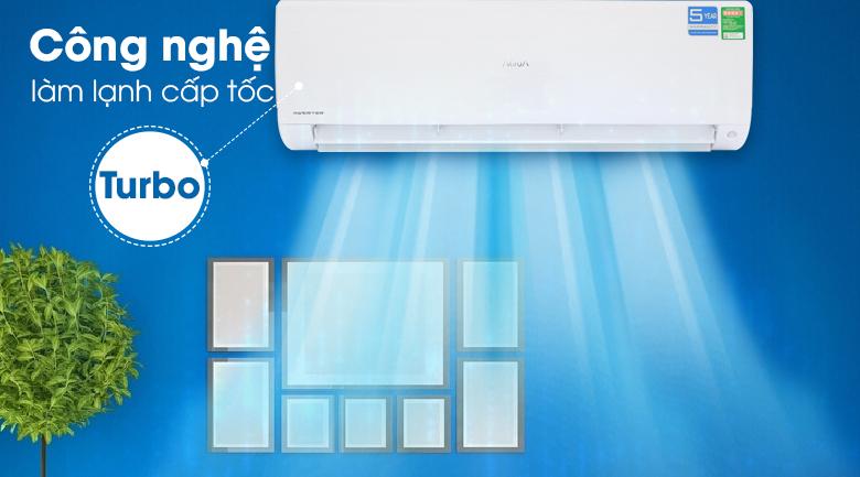 Máy lạnh Aqua Inverter 2 HP AQA-KCRV18F - Làm lạnh nhanh