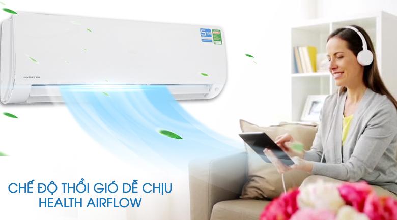 Chế độ gió Health Air - Máy lạnh Aqua Inverter 2 HP AQA-KCRV18F
