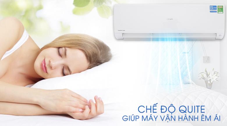 Tính năng Quite - Máy lạnh Aqua Inverter 2 HP AQA-KCRV18F