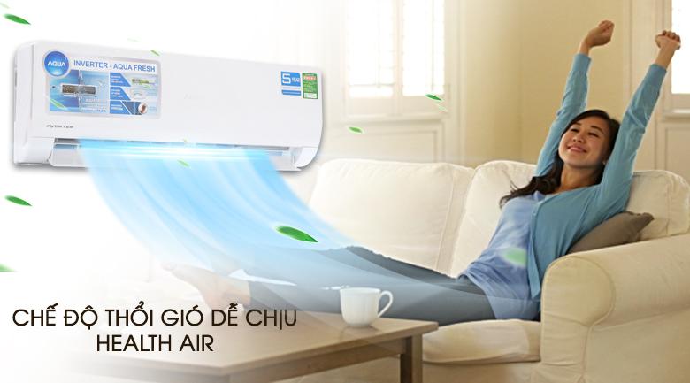 Chế độ thổi gió dễ chịu - Máy lạnh Aqua Inverter 1 HP AQA-KCRV9WJB