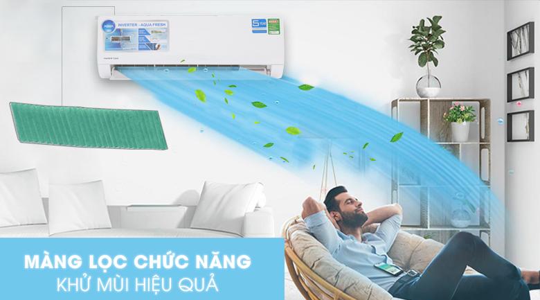 Màng lọc sạch khuẩn - Máy lạnh Aqua Inverter 1 HP AQA-KCRV9WJB