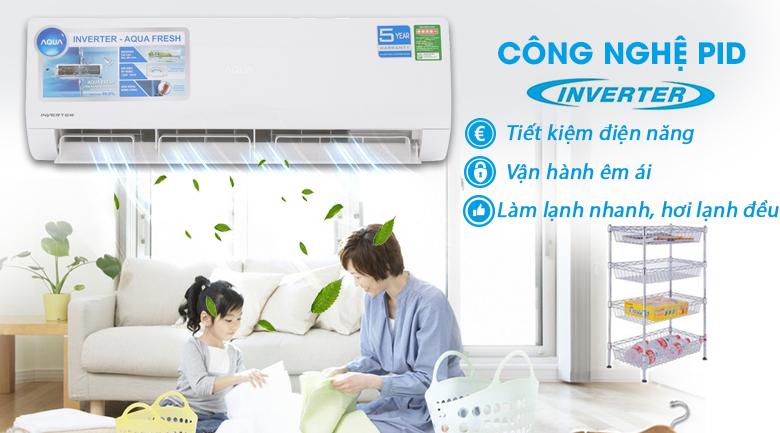 Công nghệ PID Inverter - Máy lạnh Aqua Inverter 1.5 HP AQA-KCRV12WJB