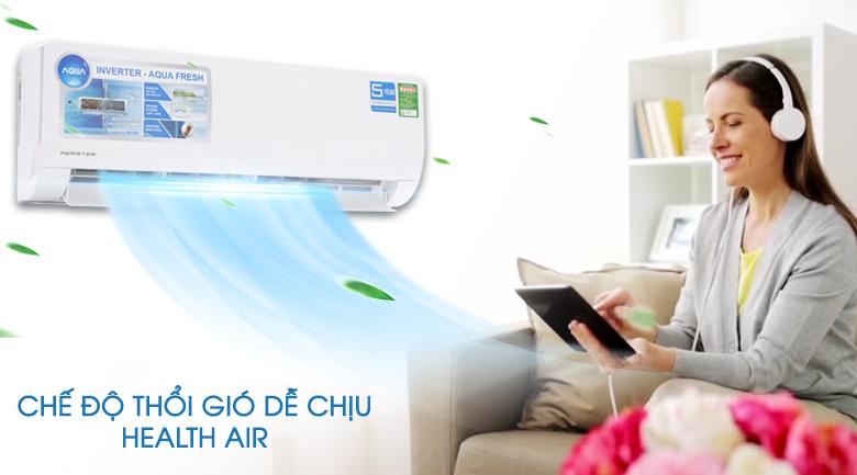 Chế độ Health Air - Máy lạnh Aqua Inverter 1.5 HP AQA-KCRV12WJB
