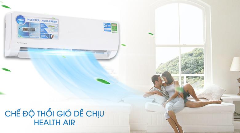 Chế độ gió dễ chịu - Máy lạnh Aqua Inverter 2 HP AQA-KCRV18WJB