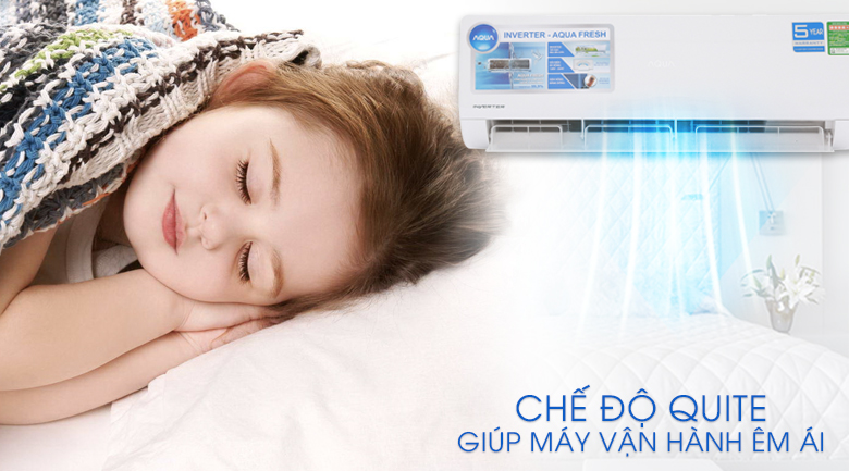 Chế độ quite - Máy lạnh Aqua Inverter 2 HP AQA-KCRV18WJB