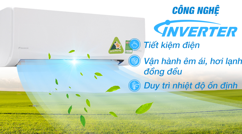 Inverter - Máy lạnh Daikin Inverter 2 HP FTKQ50SVMV