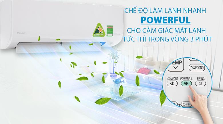 Làm lạnh nhanh - Máy lạnh Daikin Inverter 2.5 HP FTKQ60SVMV