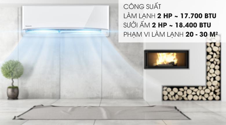Công suất 2HP - Máy lạnh 2 chiều Panasonic 2 HP CU/CS-YZ18UKH-8