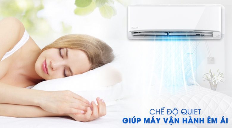 Chế độ Quiet - Máy lạnh 2 chiều Panasonic 2 HP CU/CS-YZ18UKH-8