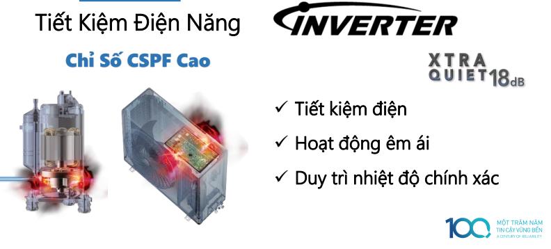Tiết kiệm điện năng - Máy lạnh 2 chiều Panasonic 2 HP CU/CS-YZ18UKH-8