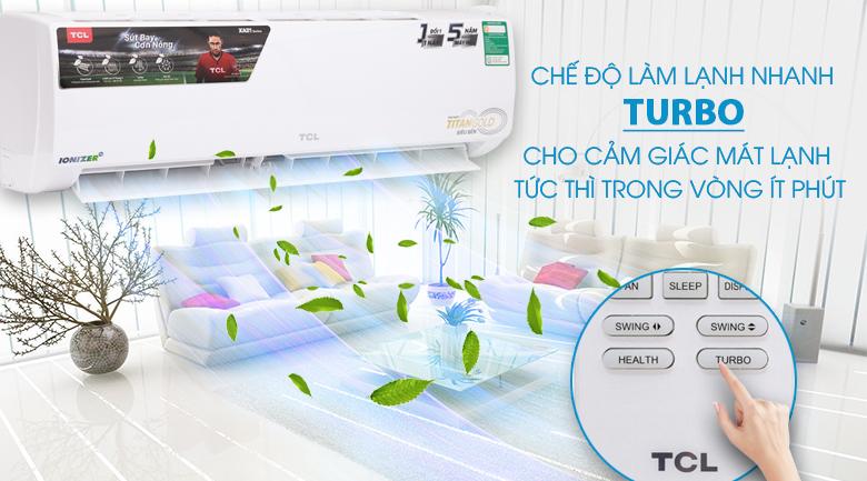 Chế độ làm lạnh nhanh Turbo - Máy lạnh TCL 1.5 HP TAC-N12CS/XA21