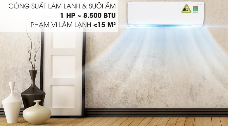 Công suất 8500 BTU - Điều hòa 2 chiều Daikin Inverter 8500 BTU FTHF25RAVMV