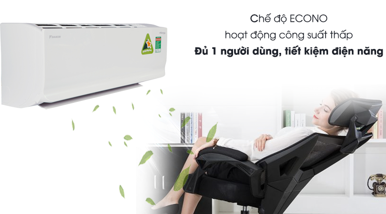 Chế độ Econo - Điều hòa 2 chiều Daikin Inverter 8500 BTU FTHF25RAVMV