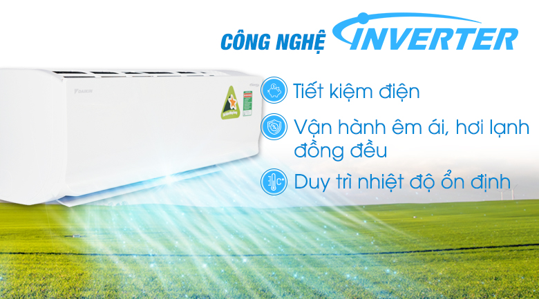 Công nghệ Inverter - Điều hòa 2 chiều Daikin Inverter 11900 BTU FTHF35RAVMV