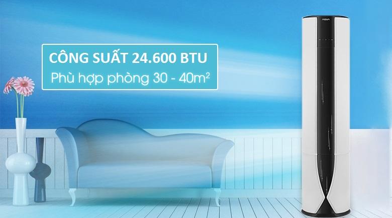 24.600 BTU - Điều hòa tủ đứng 2 chiều Aqua Inverter 24.600 BTU AQA-FCHV24C
