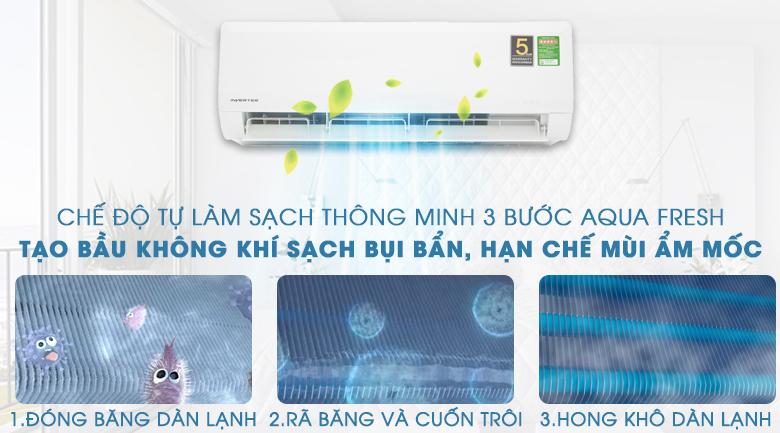 Công nghệ tự làm sạch thông minh AQUA FRESH - Máy lạnh Aqua Inverter 1HP AQA-KCRV9WNZ