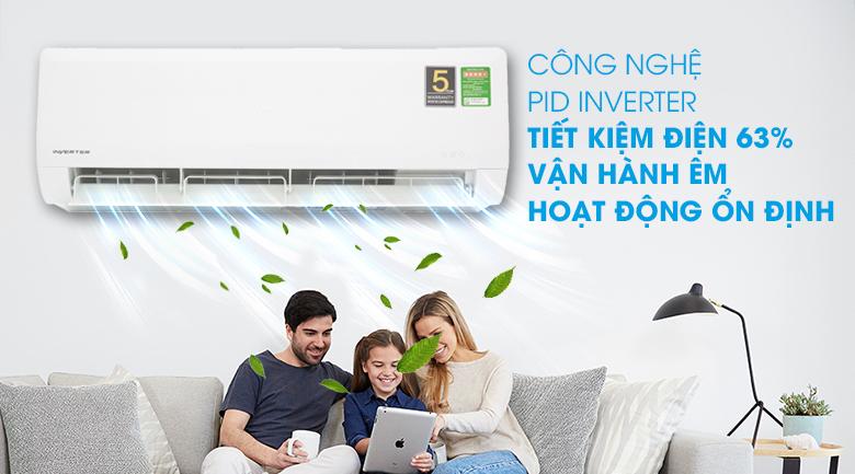 Công nghệ PID Inverter - Máy lạnh Aqua Inverter 1.5 HP AQA-KCRV12WNZ