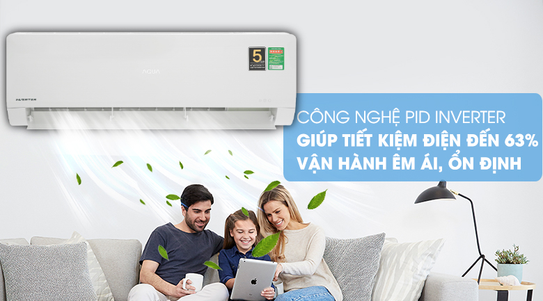 PID Inverter - Máy lạnh Aqua Inverter 2 HP AQA-KCRV18WNZ Mẫu 2019