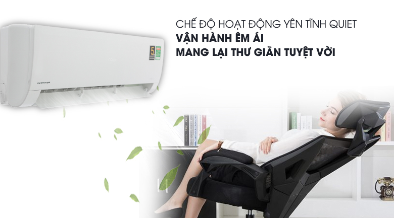 Chế độ Quiet - Máy lạnh Aqua Inverter 2 HP AQA-KCRV18WNZ Mẫu 2019