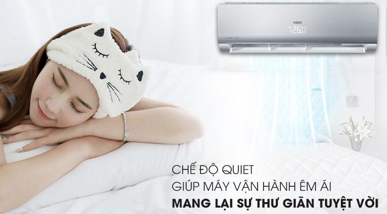 Chế độ Quiet - Máy lạnh Aqua Inverter 1.5 HP AQA-KCRV13NB
