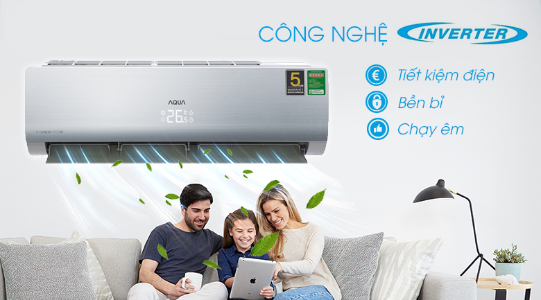 PID Inverter - Máy lạnh Aqua Inverter 1.5 HP AQA-KCRV13NB Mẫu 2019