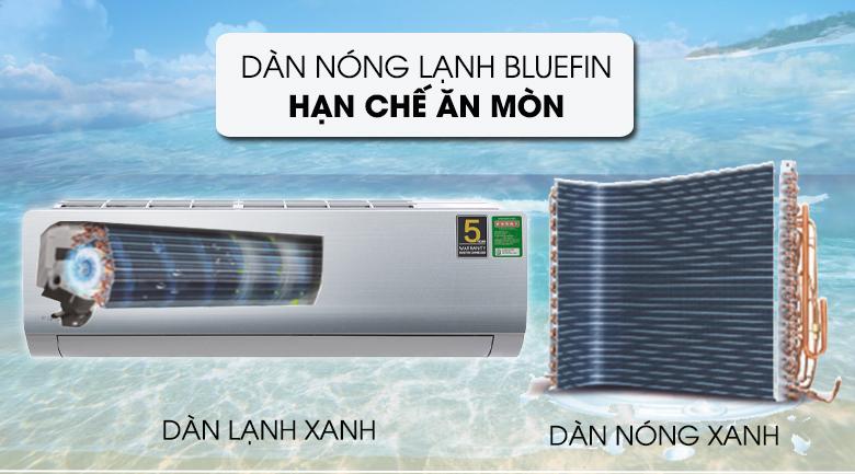 Dàn trao đổi nhiệt được phủ chất chống ăn mòn Blue Fin - Máy lạnh Aqua Inverter 1.5 HP AQA-KCRV13NB Mẫu 2019