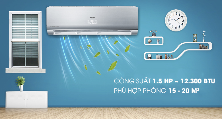 Máy lạnh Aqua Inverter 1.5 HP AQA-KCRV13NB