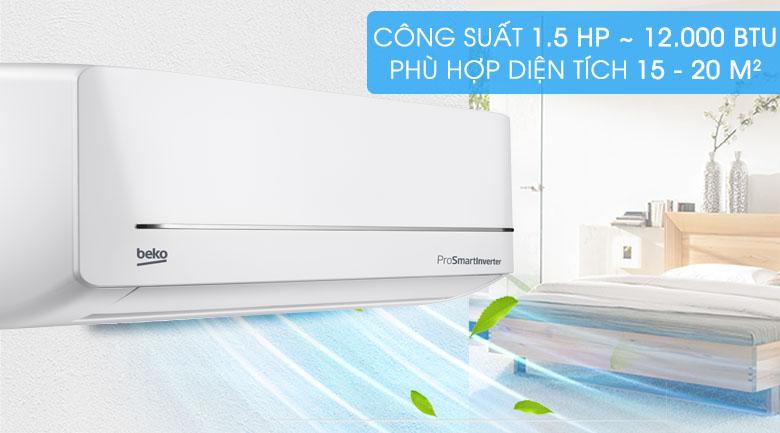 Máy lạnh Beko Inverter 1.5 HP RSVC12VS