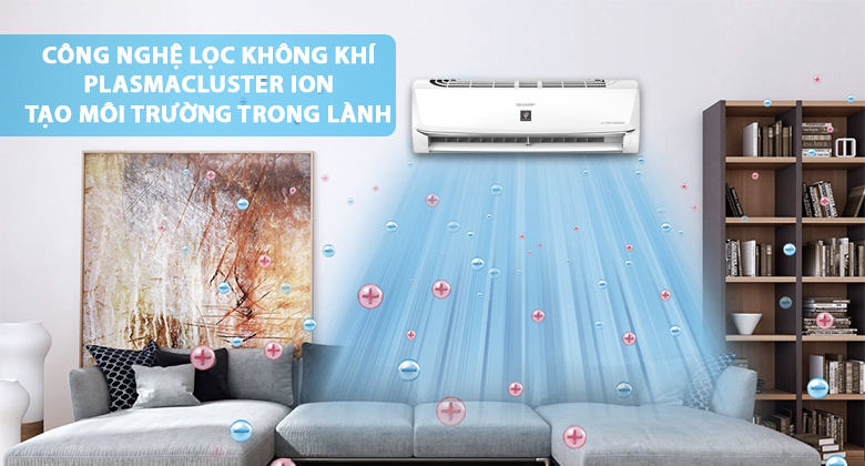 Plasmacluster ion - Máy lạnh Sharp Inverter 1.5 HP AH-XP13WMW