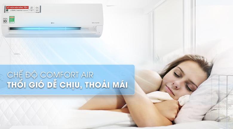 Thổi gió dễ chịu - Máy lạnh LG Inverter 2.5 HP V24ENF