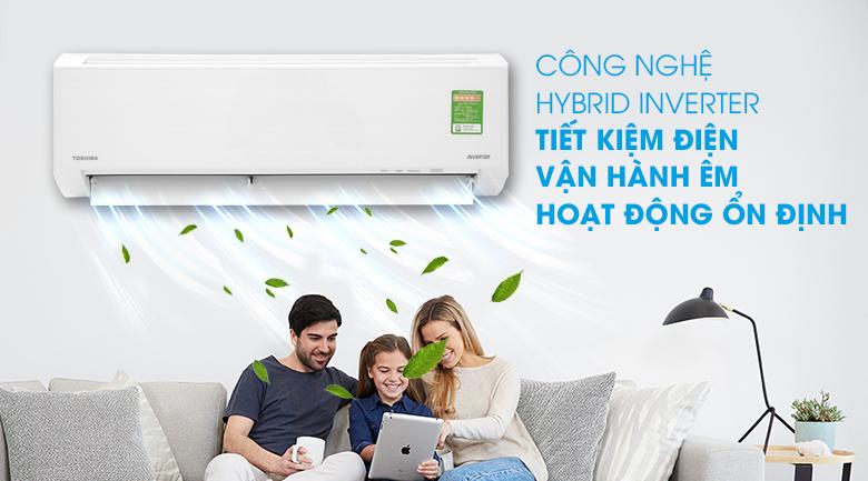 Tiết kiệm điện hiệu quả với công nghệ Inverter kết hợp Chế độ Eco - Điều hòa Toshiba Inverter 8500 BTU RAS-H10D1KCVG-V