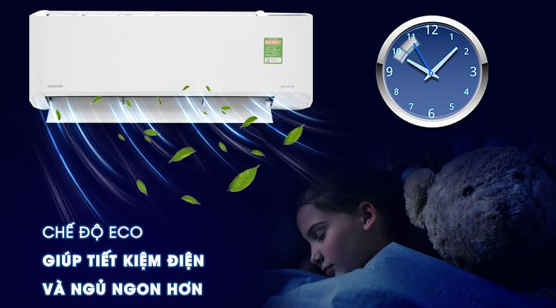 Tính năng Eco - Máy lạnh Toshiba 1.5 HP RAS-H13C1KCVG-V