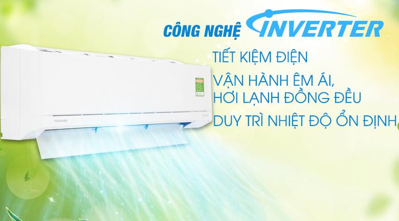 Công nghệ Inverter - Máy lạnh Toshiba Inverter 1 HP RAS-H10XKCVG-V