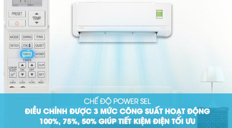 Chế độ Power Sel - Máy lạnh Toshiba Inverter 1 HP RAS-H10XKCVG-V