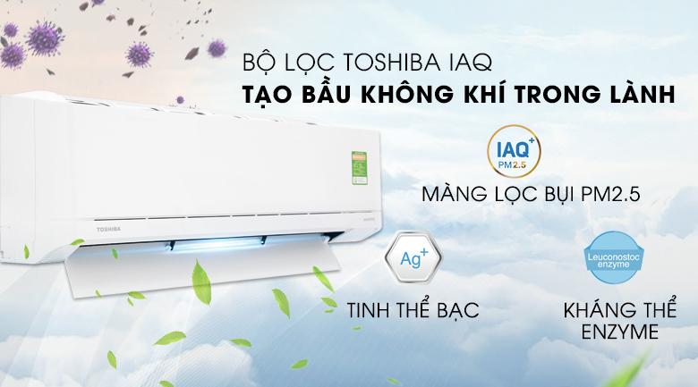 IAQ - Máy lạnh Toshiba Inverter 1 HP RAS-H10XKCVG-V