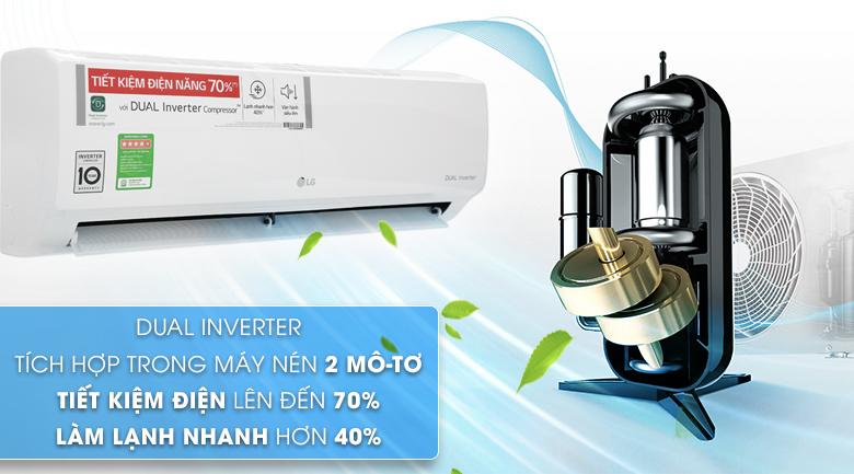 Công nghệ Dual Inverter - Máy lạnh LG Inverter 9200 BTU V10ENH
