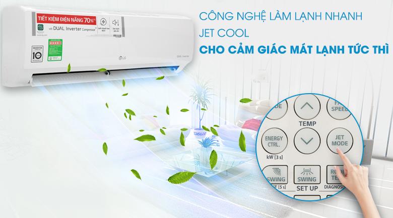 Công nghệ Jet Cool - Máy lạnh LG Inverter 9200 BTU V10ENH