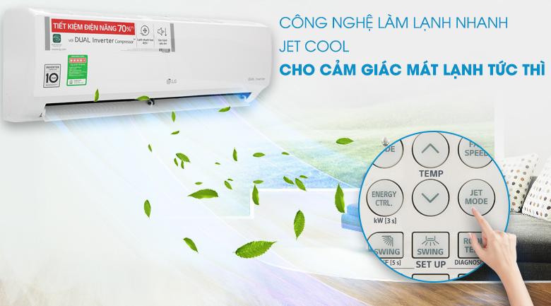 Jet Cool - Máy lạnh LG Inverter 1 HP V10ENV