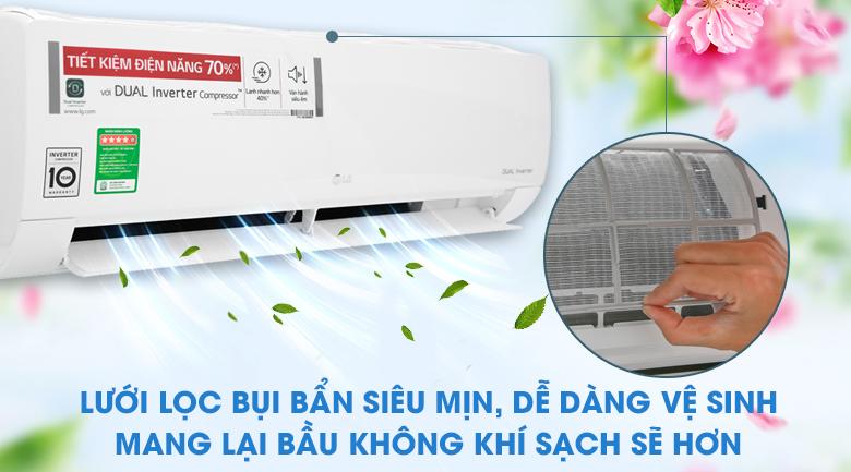 Lưới lọc bụi siêu mịn - Máy lạnh LG Inverter 1.5 HP V13ENH