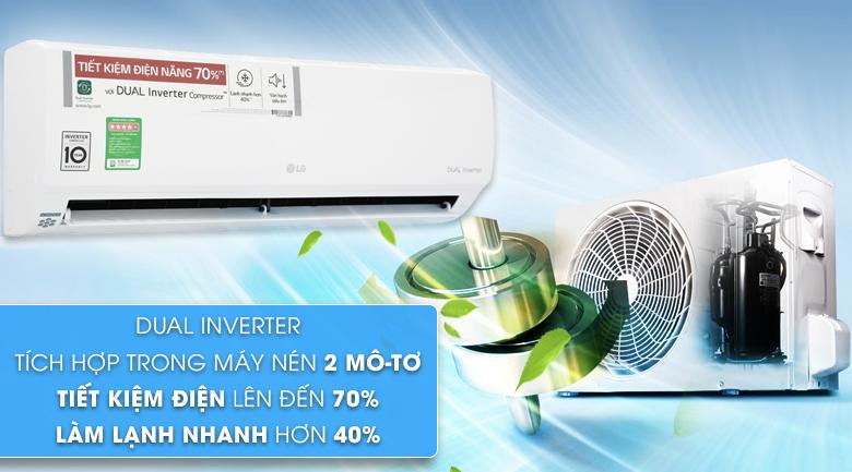 Dual Inverter - Máy lạnh LG Inverter 1 HP V10APH
