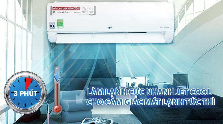Làm lạnh nhanh - Máy lạnh LG Inverter 1.5 HP V13APH