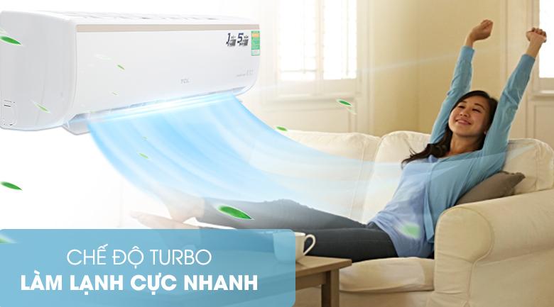 Làm lạnh nhanh - Máy lạnh TCL Inverter 1 HP TAC-10CSI/KE88N