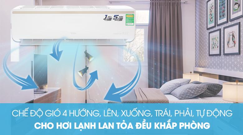Đảo gió 3D - Máy lạnh TCL Inverter 1 HP TAC-10CSI/KE88N