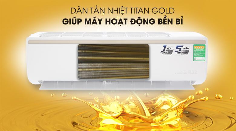 Dàn tản nhiệt Titan Gold - Máy lạnh TCL Inverter 1.5 HP TAC-13CSI/KE88N