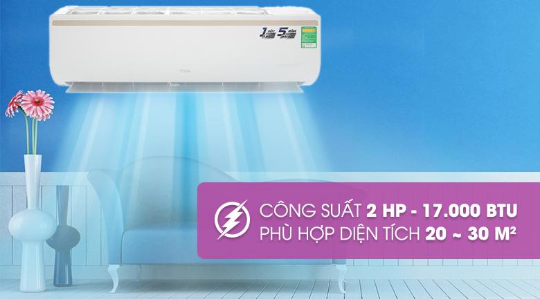 Máy lạnh TCL Inverter 2 HP TAC-18CSI/KE88N - Công suất