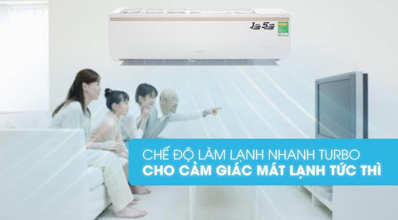 Làm lạnh nhanh - Máy lạnh TCL Inverter 2 HP TAC-18CSI/KE88N