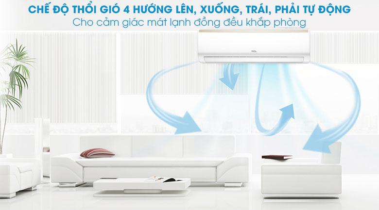 Cánh đảo gió 3D - Máy lạnh TCL Inverter 2 HP TAC-18CSI/KE88N
