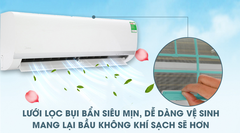 Bộ lọc bụi HD - Máy lạnh Midea 1 HP MSAF-10CRN8