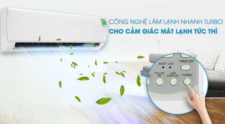 Làm lạnh nhanh - Máy lạnh Midea Inverter 1 HP MSAF-10CRDN8